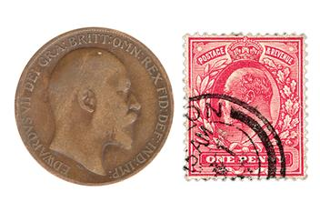 Edward VII Coin and Stamp