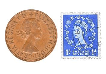 Elizabeth II Coin and Stamp