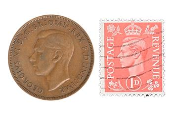 George VI Coin and Stamp