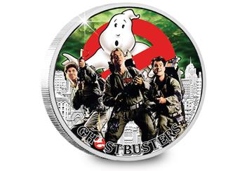The Official Ghostbusters Silver 1oz Coin Reverse