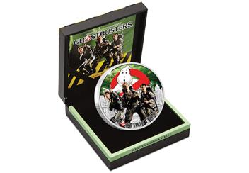The Official Ghostbusters Silver 1oz Coin Box