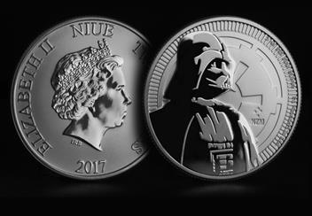 Star Wars Darth Vader Silver Bullion Coin