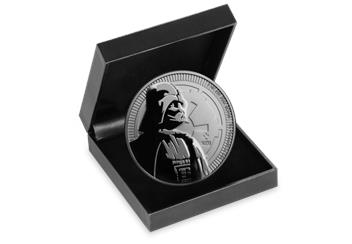 Star Wars Darth Vader Silver Bullion Coin in Box