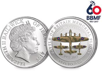 BBMF CuNi Proof 5 Pound Coin Obverse Reverse.png