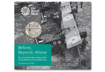 WWI Aviation £2 in pack
