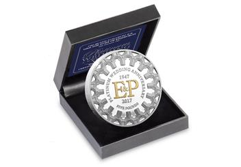 Platinum Wedding Anniversary Five Pound Proof Coin in Box