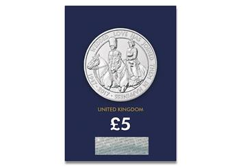 The Platinum Wedding UK Certified BU £5 Coin Reverse