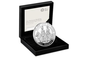 The Platinum Wedding UK £5 Silver Proof Coin in Box