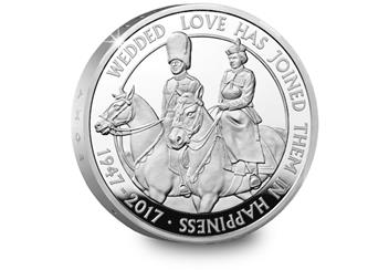 The Platinum Wedding UK £5 Silver Proof Coin Reverse