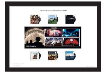 Own The Official Pink Floyd Stamps Professionally Mounted And Framed