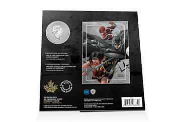 Justice League Lenticular Coin Card Back