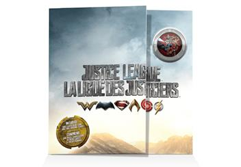 Justice League Lenticular Coin Card Front