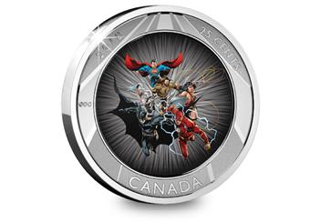 Justice League Lenticular Coin Card Reverse 2