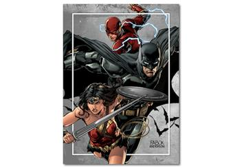 Justice League Lenticular Coin Collector Card 1
