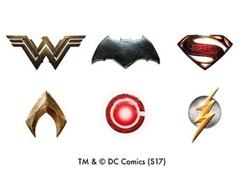 Justice League Character Emblems