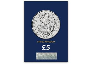 Change-Checker-UK-2018-Queens-Beasts-Dragon-of-Wales-BU-Five-Pound-Coin-Reverse-In-Pack