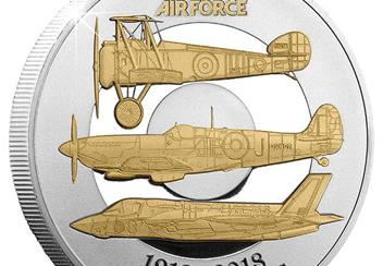 RAF Centenary Five Pound Proof Coin Close Up