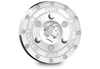 UFO Silver Proof Coin Obverse