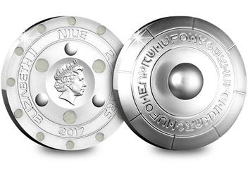 UFO Silver Proof Coin Obverse Reverse