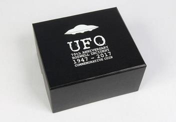 UFO Silver Proof Coin Outer Box