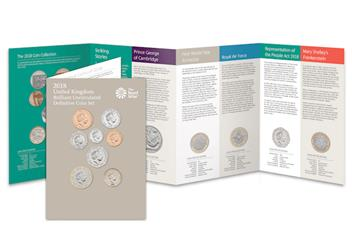 2018 United Kingdom Annual Royal Mint Coin Set Pack
