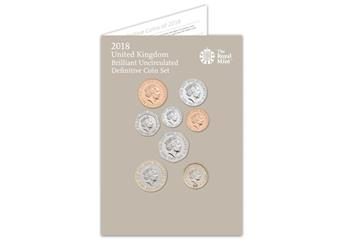 2018 United Kingdom Annual Royal Mint Coin Set Pack Front