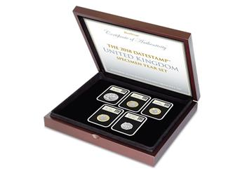 2018 United Kingdom Coins BU DateStamp Case