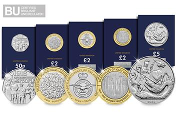 2018 UK Change Checker Commemorative Set Product Page All BU
