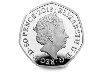 2018 Silver Proof Coins Representation Of The People Act 50P Obverse
