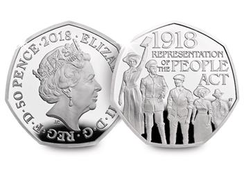 2018 Silver Proof Coins Representation Of The People Act 50P Obverse Reverse