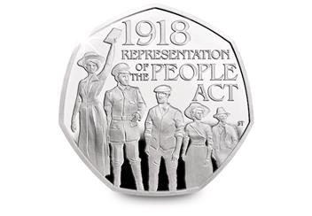 2018 Silver Proof Coins Representation Of The People Act 50P Reverse