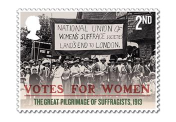 Votes For Women Cover Stamp 3