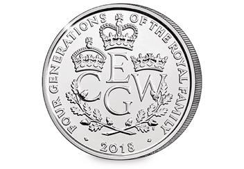The Four Generations Of Royalty 2018 UK 5 Pound Reverse 1