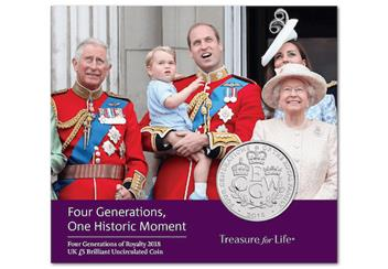 The Four Generations Of Royalty 2018 UK 5 Pound RM Pack