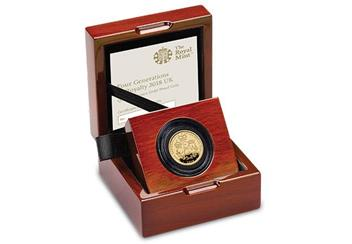 UK 2018 Four Generations Of Royalty Gold Proof 1 4Oz Coin In Display Case