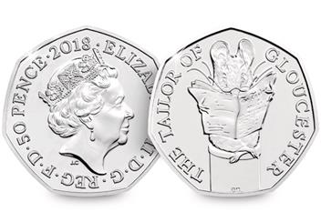 2018-Beatrix-Potter-50p-Coins-Brilliant-Uncirculated-The-Tailor-of-Gloucester-Obverse-Reverse