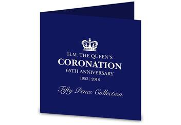 Sapphire Coronation Fifty Pence Coin Set Pack Front