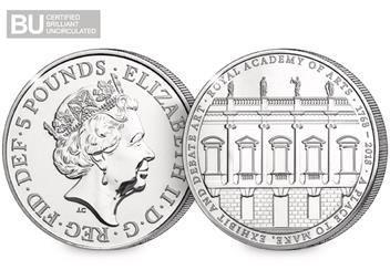 250th-Anniversary-of-the-Royal-Academy-of-Arts-BU-5-Pound-Coin-Obverse-Reverse-Logo
