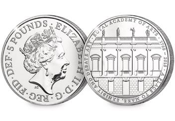 250th-Anniversary-of-the-Royal-Academy-of-Arts-BU-5-Pound-Coin-Obverse-Reverse