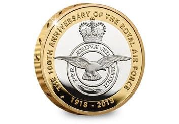 UK 2018 RAF 100Th Badge Silver Proof Two Pound Coin Reverse