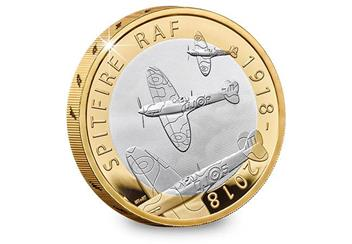 UK 2018 RAF 100Th Spitfire Silver Proof Two Pound Coin Reverse