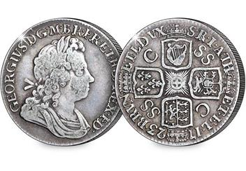 UK 1723 George I South Sea Company Shilling Obverse Reverse