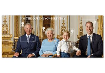 Four Generations Of Royalty Cover Stamps Minisheet