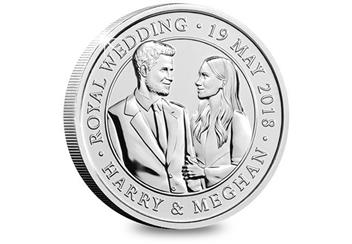 2018 Royal Wedding Bu Five Pound Royal Mint Packaging Reverse