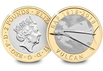 2018 Raf Certified Bu 2 Pound Coin Vulcan Both Sides