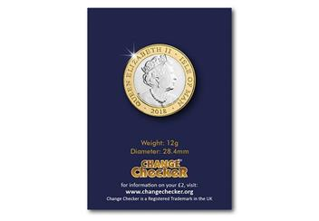 Change Checker Iom 2018 Tt Two Pound Coin Obverse In Pack