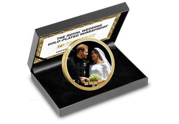 Numisproof Harry And Meghan Royal Wedding 2018 Gold Plated Commemorative In Display Case