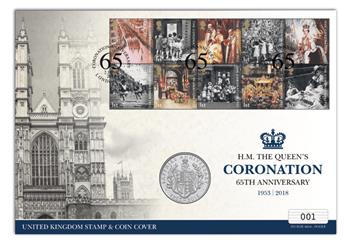 Coronation Uk Coin And Stamp Cover Cover