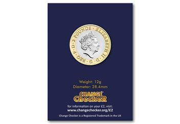 Change-Checker-UK-2018-Captain-Cook-CuNi-BU-Two-Pound-Coin-in-Pack-Back
