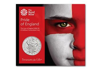 Uk 2018 Lion Of England Cuni Bu Five Pound Coin Pack